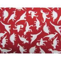 Dinosaur Adventures Cotton- Red