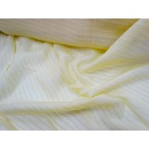 Self Stripe Silk Chiffon- Banana
