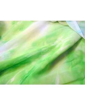 Tie Dye Chiffon- Lime