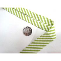 A Day In The Country Bias- Medium Stripe- Lime