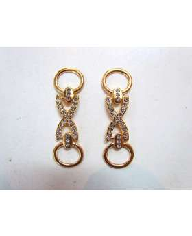 2 x Rose Gold Diamonte Chains- RW129