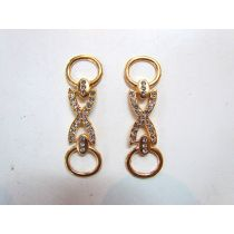 2 x Rose Gold Diamonte Chains- RW129