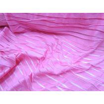 Pink Sheer Stripe 2way Stretch Lycra