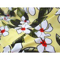 Phuket Floral Lycra- Yellow