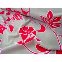 Raspberry Fern Floral Lycra