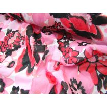 Fujiyama Floral Cotton- Cherry