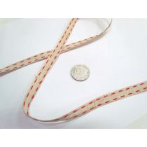 Stitch Natural Ribbon 10mm- Red