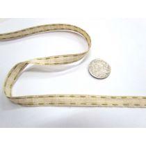 Stitch Natural Ribbon 10mm- Olive