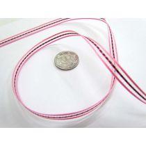 Georgie Ribbon 6mm- Pink/Red