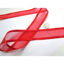 Satin Edge Ribbon 38mm- Spice Red