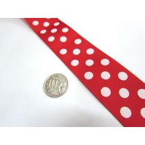 Spots Ribbon 38mm- Red