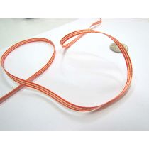 Gingham Ribbon 5mm- Orange