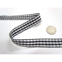 Gingham Ribbon 15mm- Black