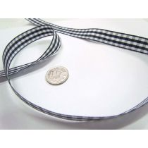 Gingham Ribbon 15mm- Navy