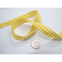Gingham Ribbon 15mm- Yellow
