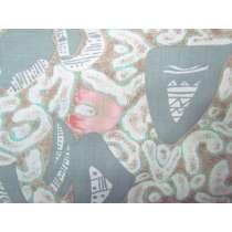 Japanese Warrior Cotton- Grey