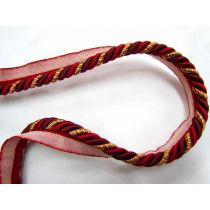 Shiny Regal Cushion Piping- Red