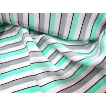 Lounge Stripe Crepe de Chine- Mint