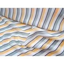 Lounge Stripe Crepe de Chine- Peach