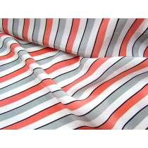 Lounge Stripe Crepe de Chine- Nectarine