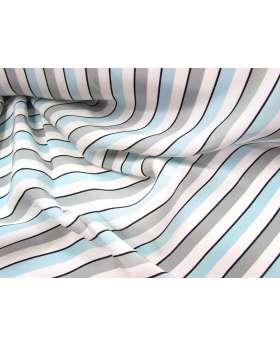 Lounge Stripe Crepe de Chine- Blueberry