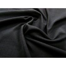 Stretch Cotton Jersey Spandex- Black #706