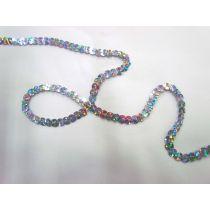 Slung Holographic Sequins- Silver