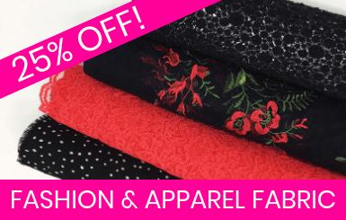 Fabrics for Fashion & Apparel Online