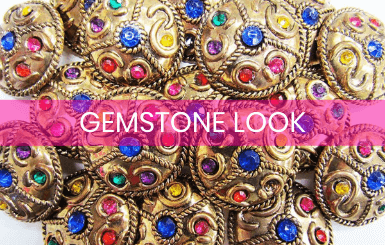 Gemstone Look Buttons